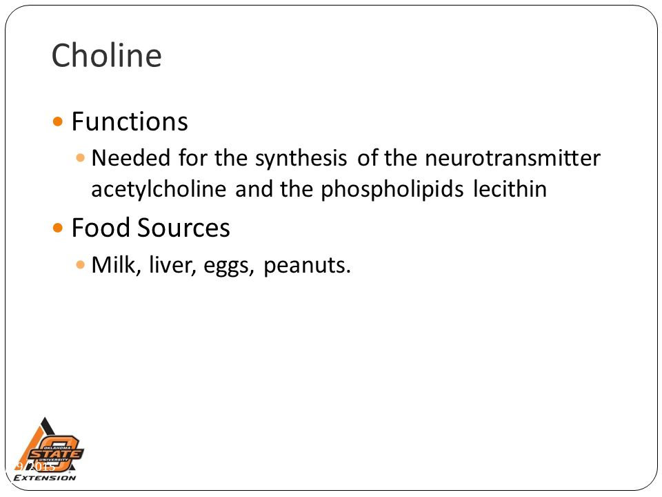 Choline Functions Food Sources