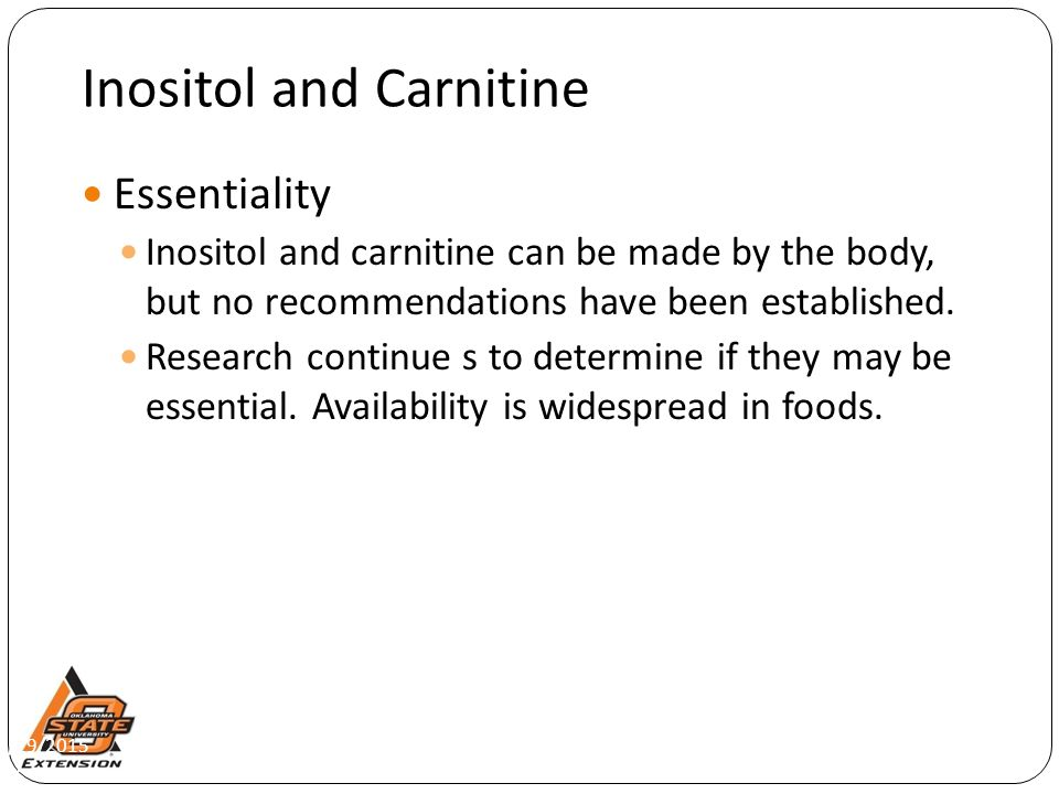 Inositol and Carnitine