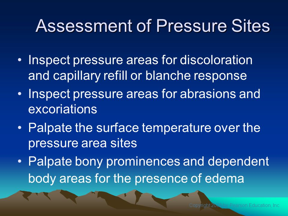 Assessment of Pressure Sites