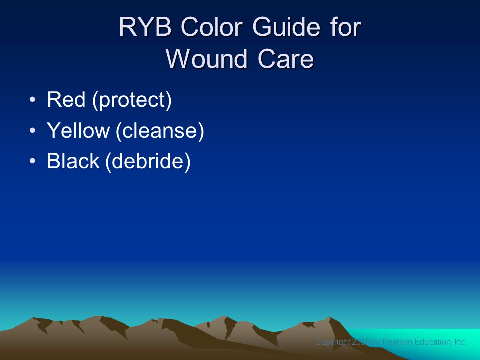 RYB Color Guide for Wound Care