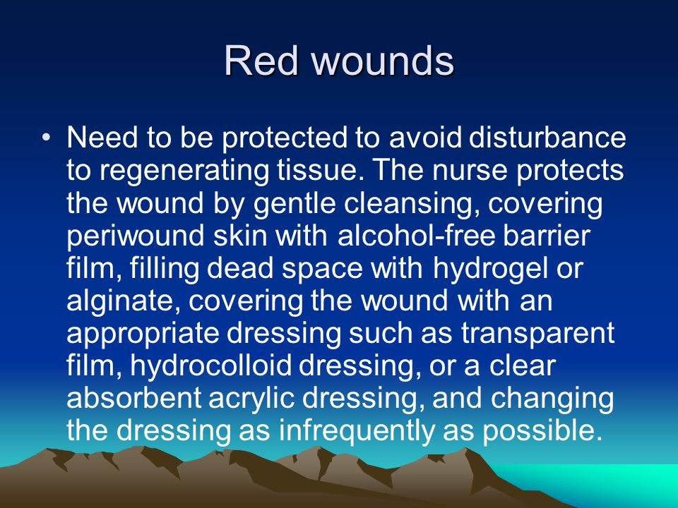 Red wounds