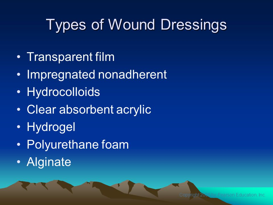 Types of Wound Dressings