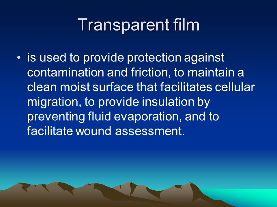 Transparent film