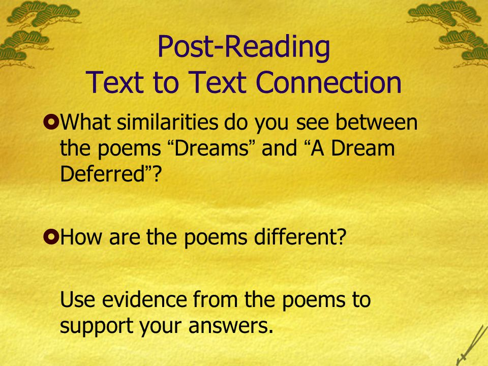 Post-Reading Text to Text Connection