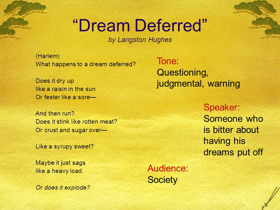 analysis of langston hughes ldquo dreams rdquo and ldquo harlem a dream 7 ldquodream