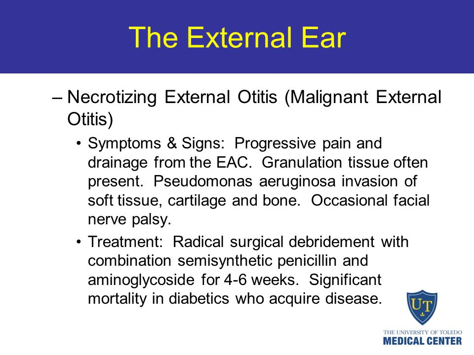 The External Ear Necrotizing External Otitis (Malignant External Otitis)
