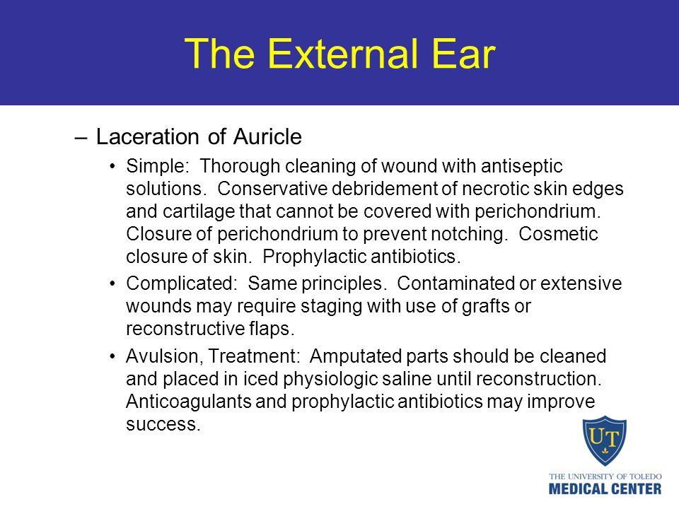 The External Ear Laceration of Auricle