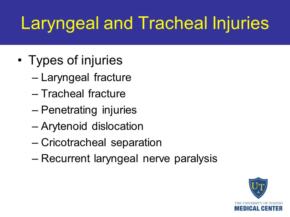 Laryngeal and Tracheal Injuries