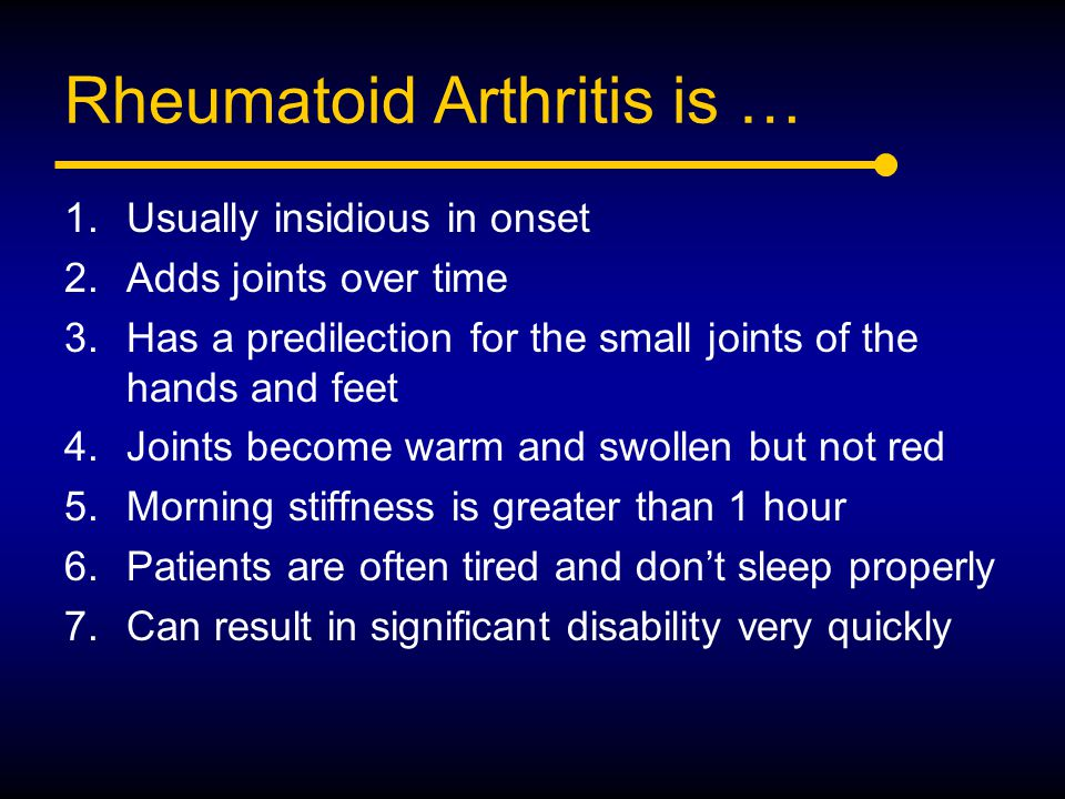 Rheumatoid Arthritis is …