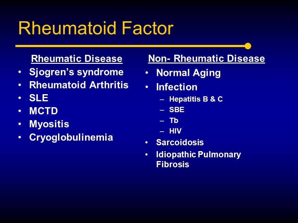 Non- Rheumatic Disease