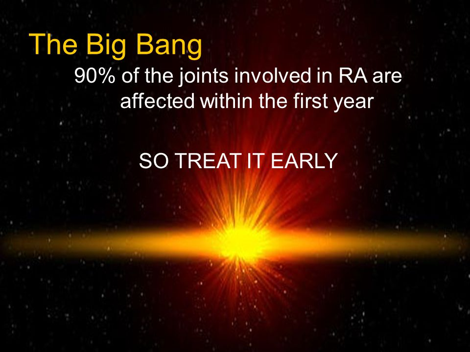 90% of the joints involved in RA are affected within the first year
