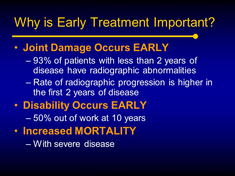 Why is Early Treatment Important