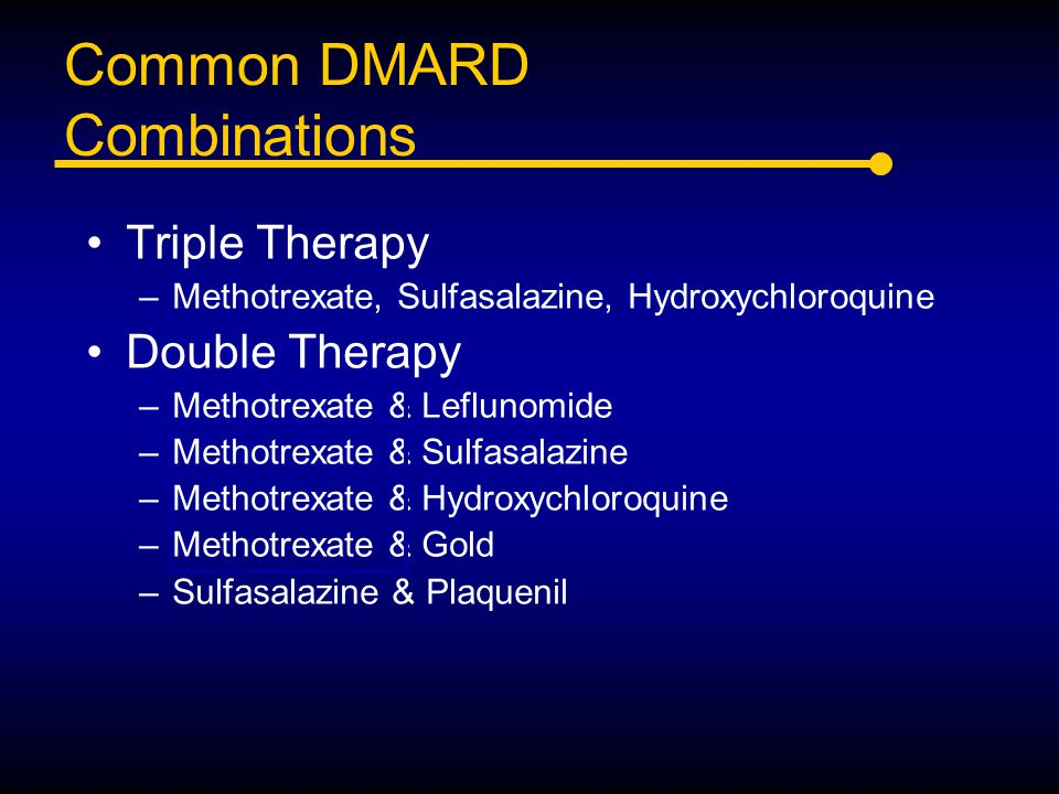Common DMARD Combinations