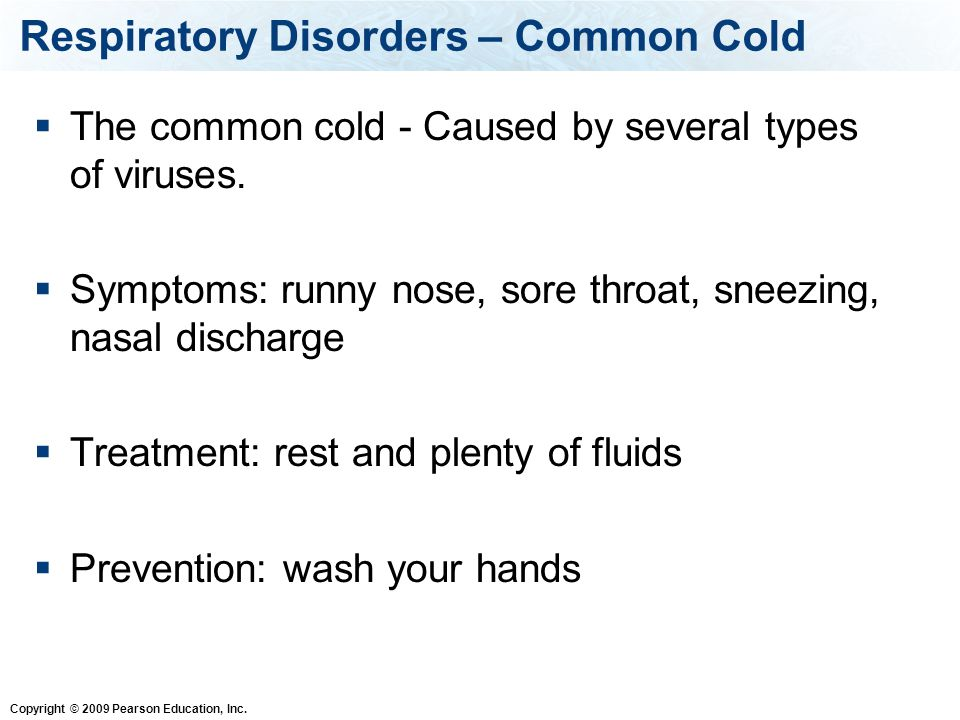 Respiratory Disorders – Common Cold