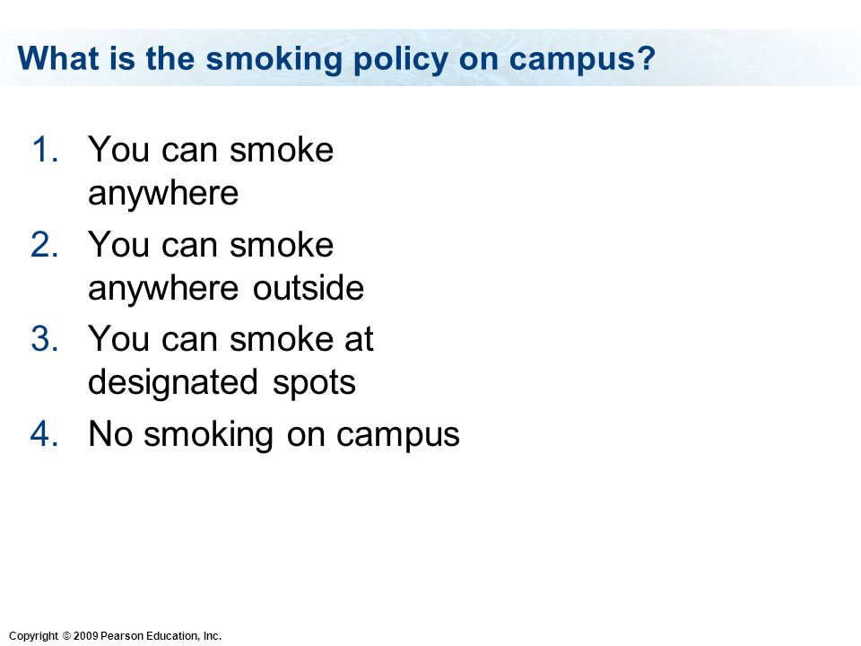 What is the smoking policy on campus
