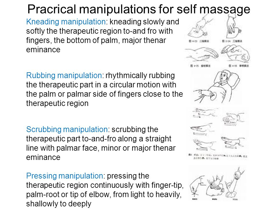 Pracrical manipulations for self massage