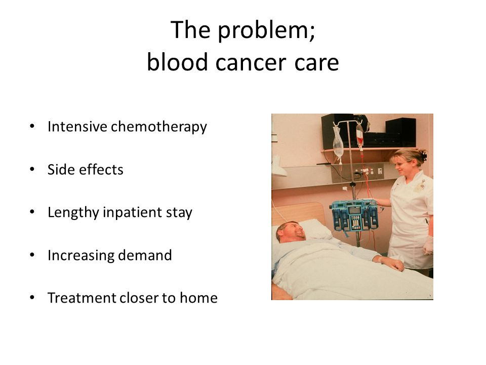 The problem; blood cancer care