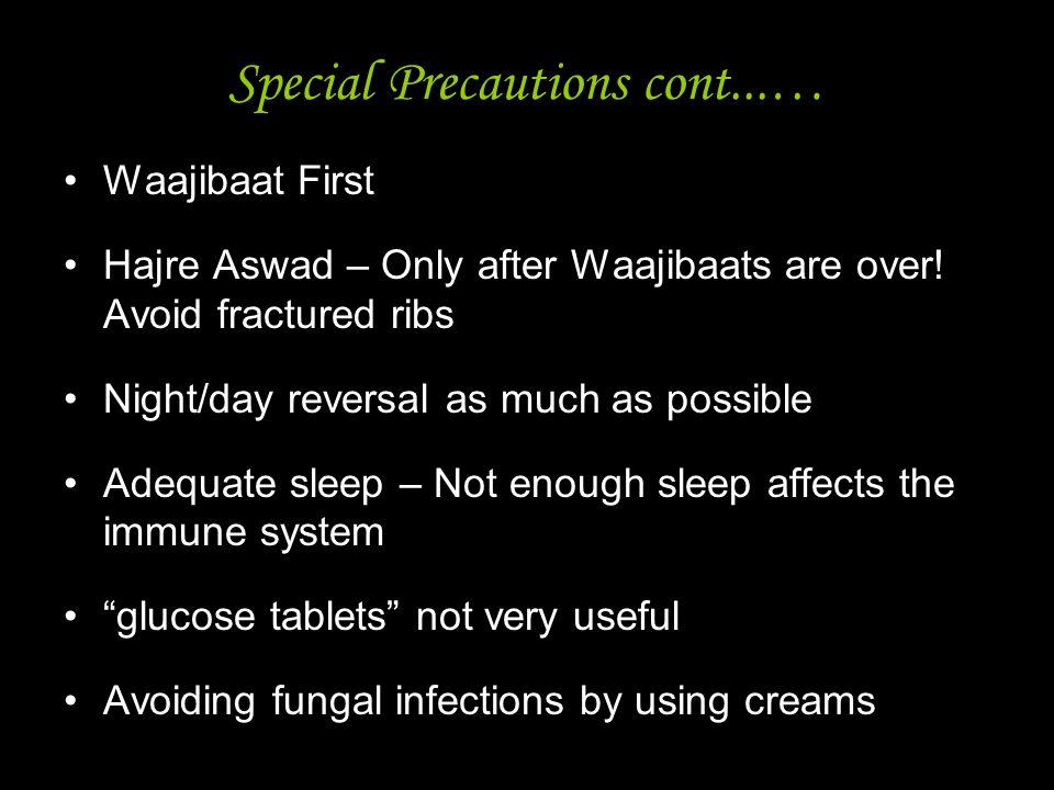 Special Precautions cont...…