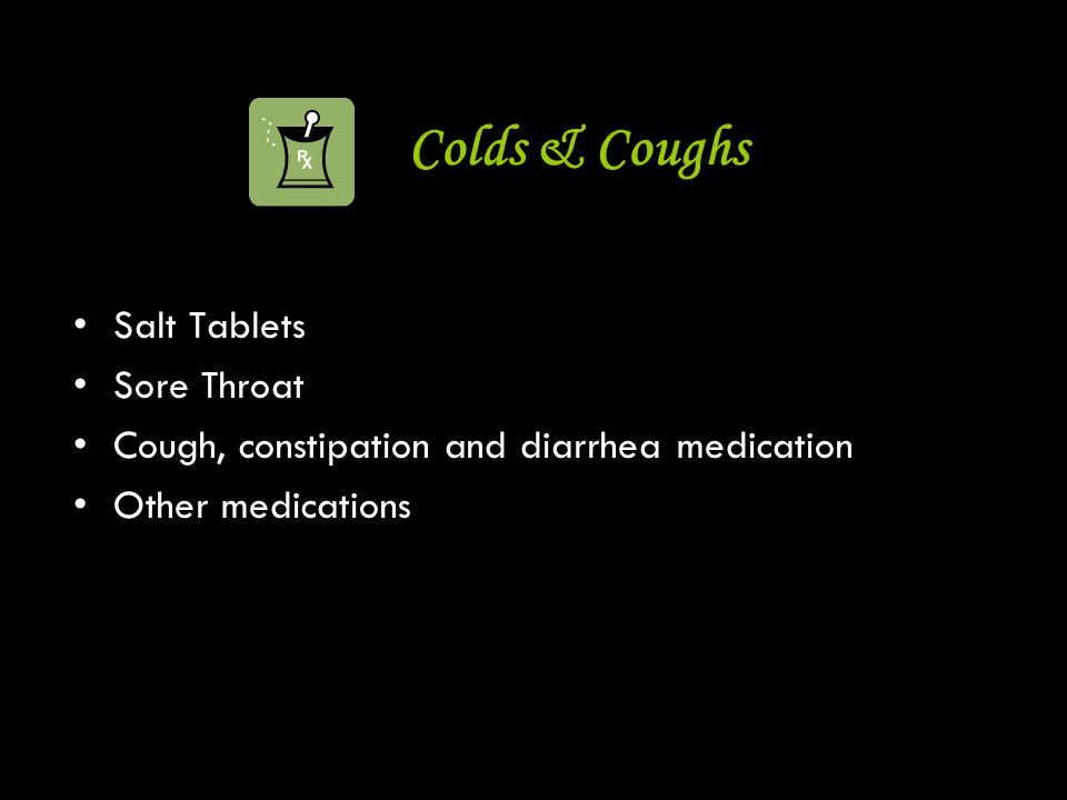Colds & Coughs Salt Tablets Sore Throat