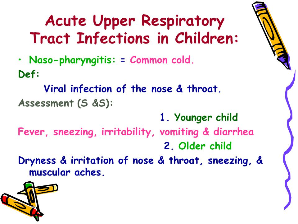 Acute Upper Respiratory Tract Infections in Children:
