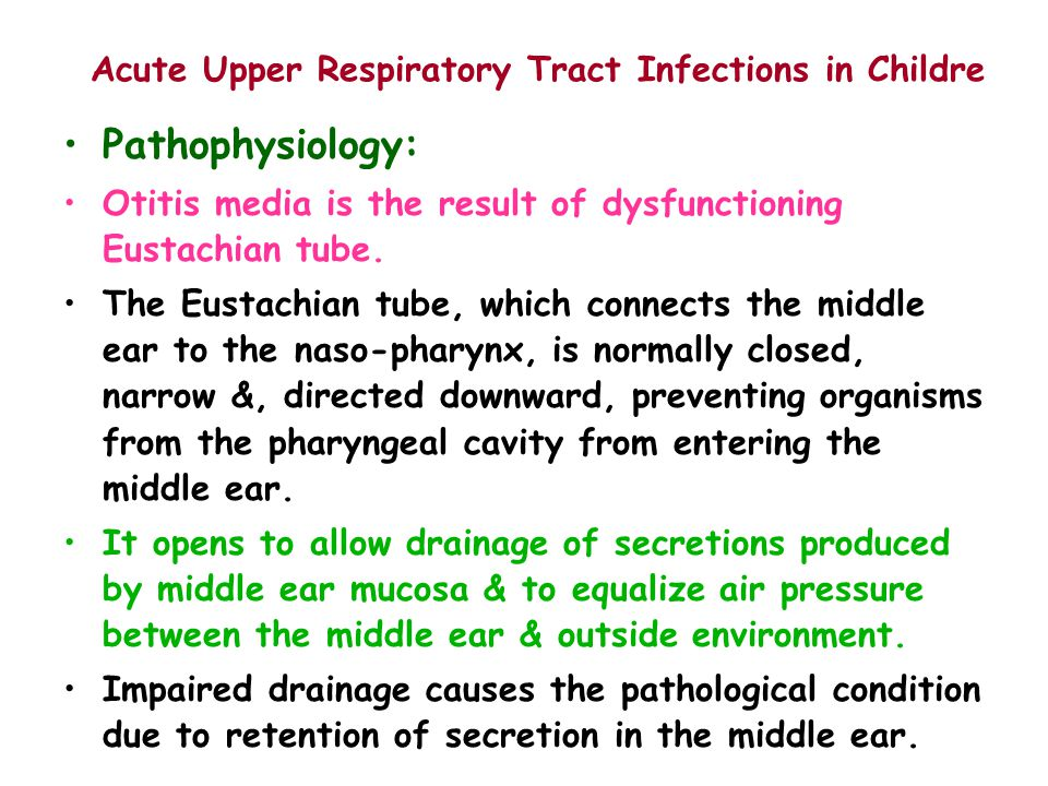 Acute Upper Respiratory Tract Infections in Childre