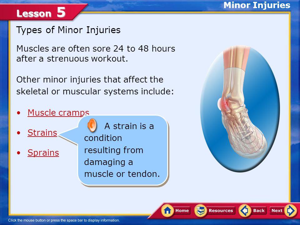 Types of Minor Injuries
