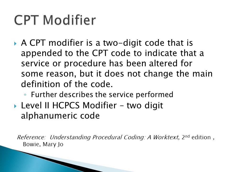 CPT Modifier