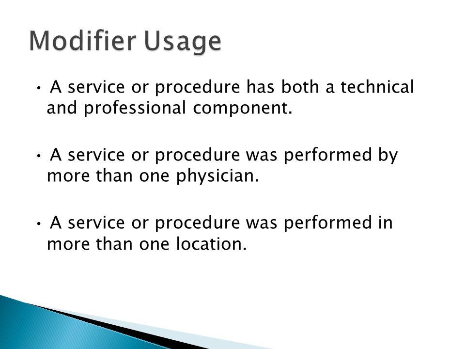 Modifier Usage