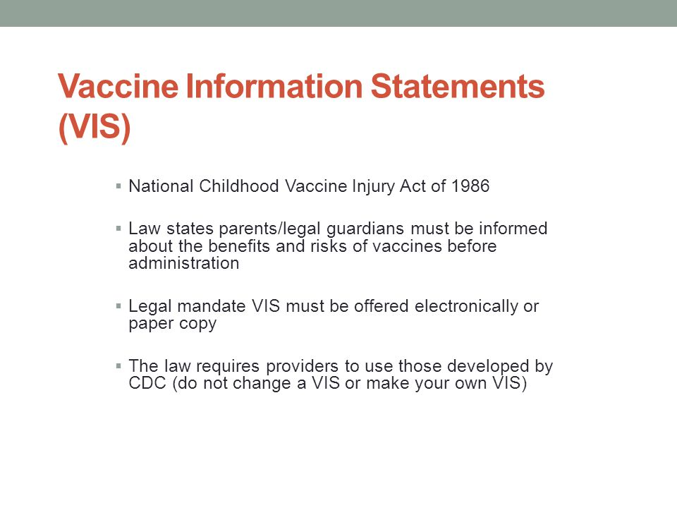 Vaccine Information Statements (VIS)
