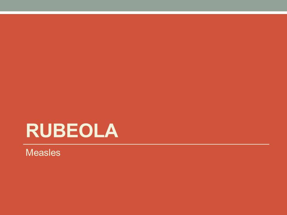 Rubeola Measles