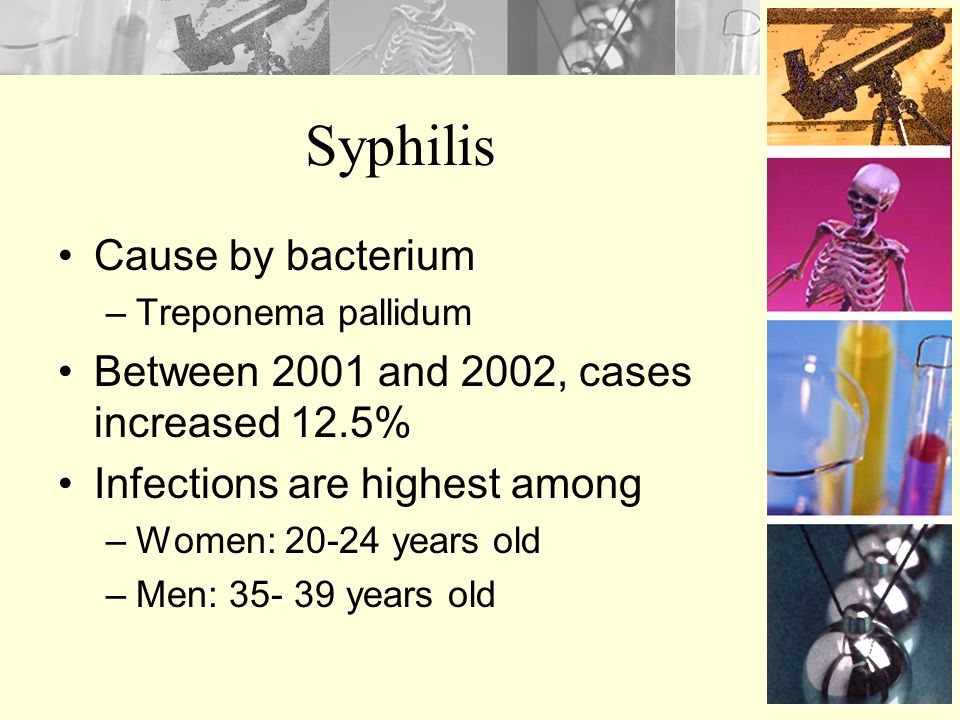Syphilis Cause by bacterium