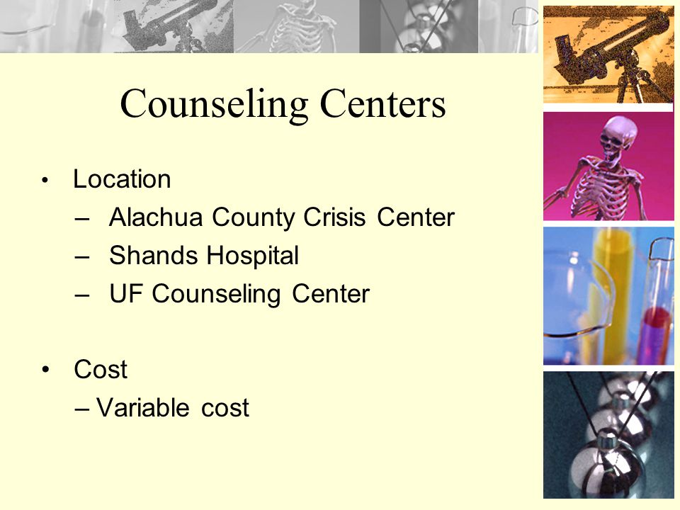 Counseling Centers Alachua County Crisis Center Shands Hospital