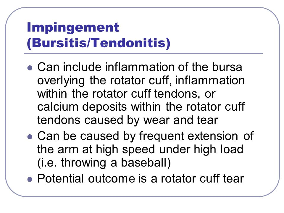 Impingement (Bursitis/Tendonitis)