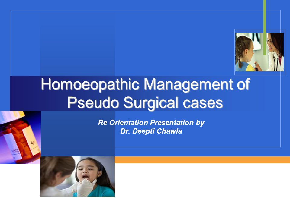 Homoeopathic Management of Pseudo Surgical cases