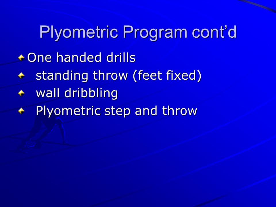 Plyometric Program cont'd