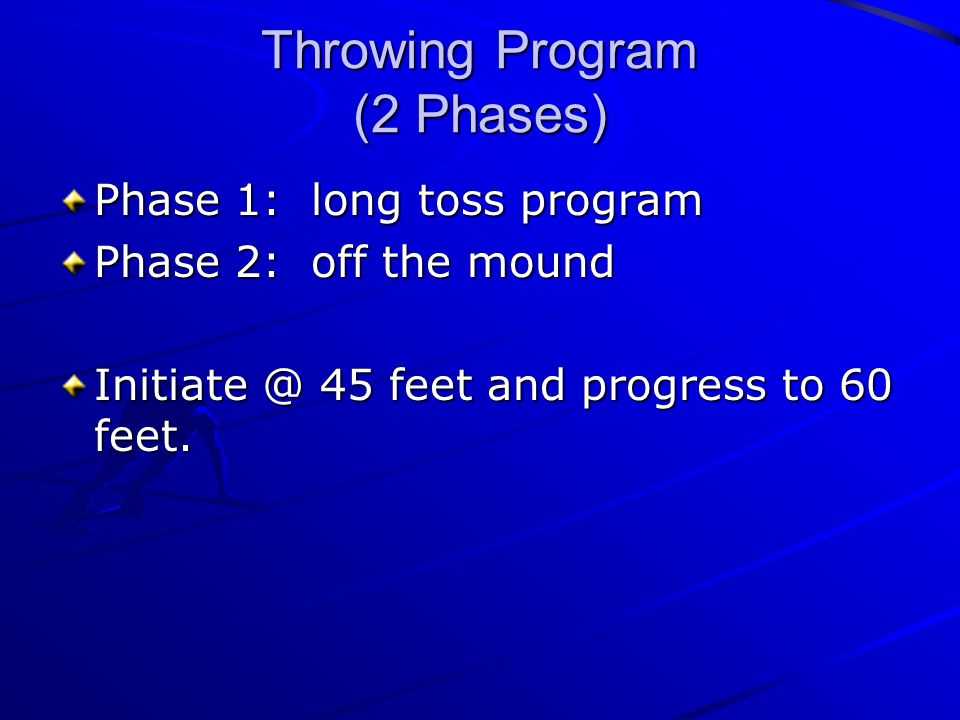 Throwing Program (2 Phases)