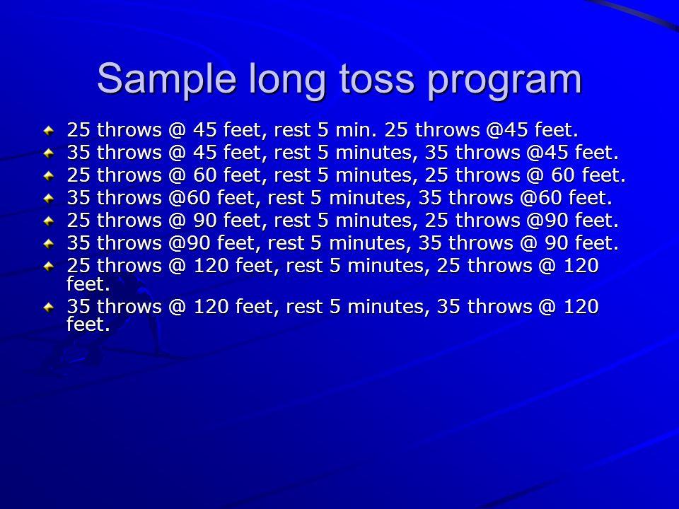 Sample long toss program