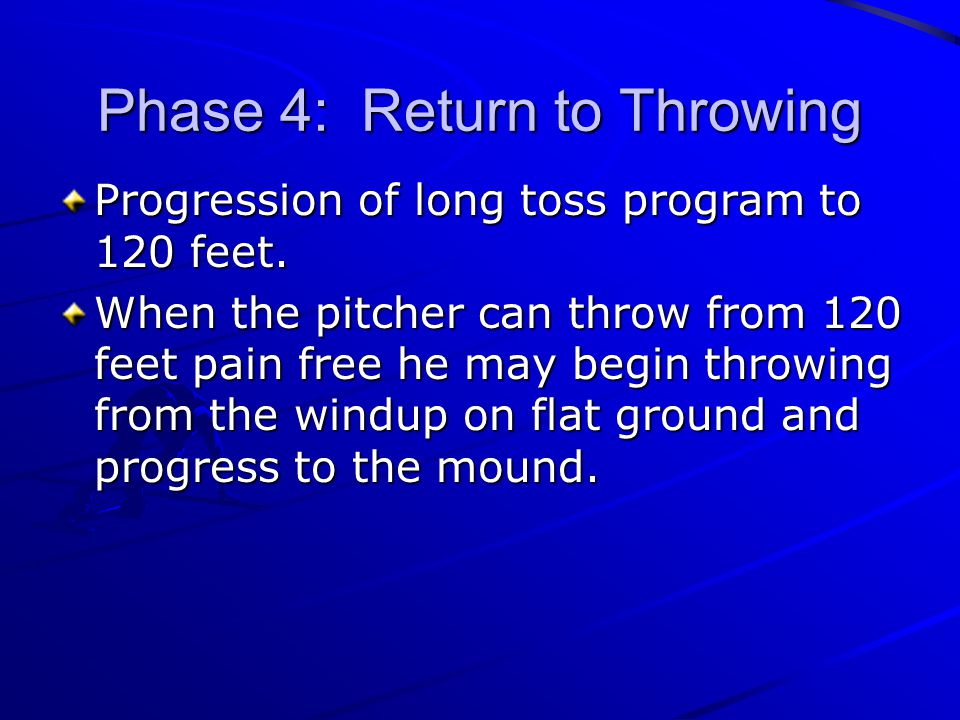 Phase 4: Return to Throwing