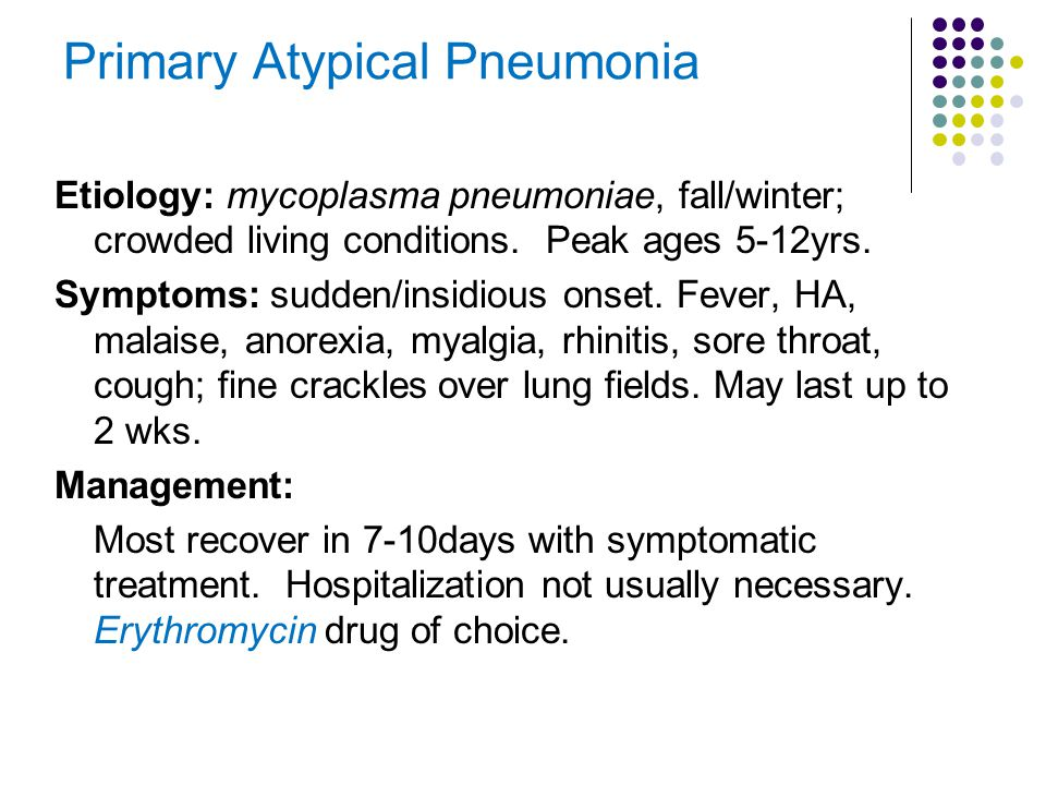 Primary Atypical Pneumonia