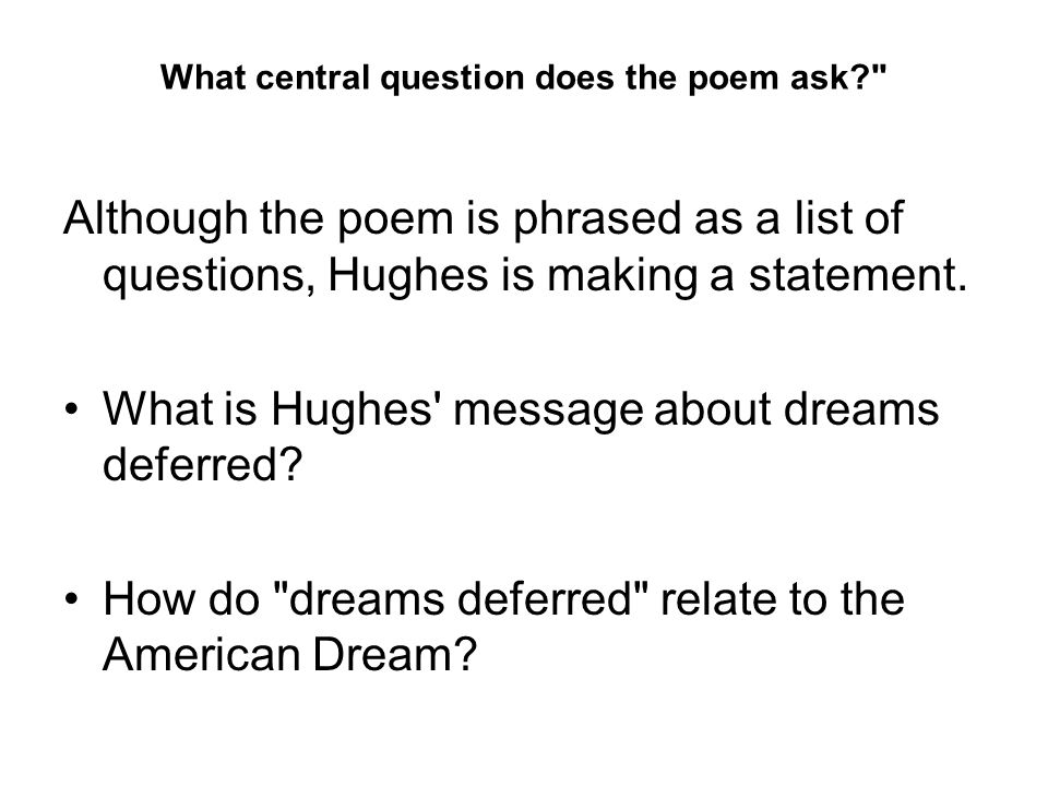 What central question does the poem ask