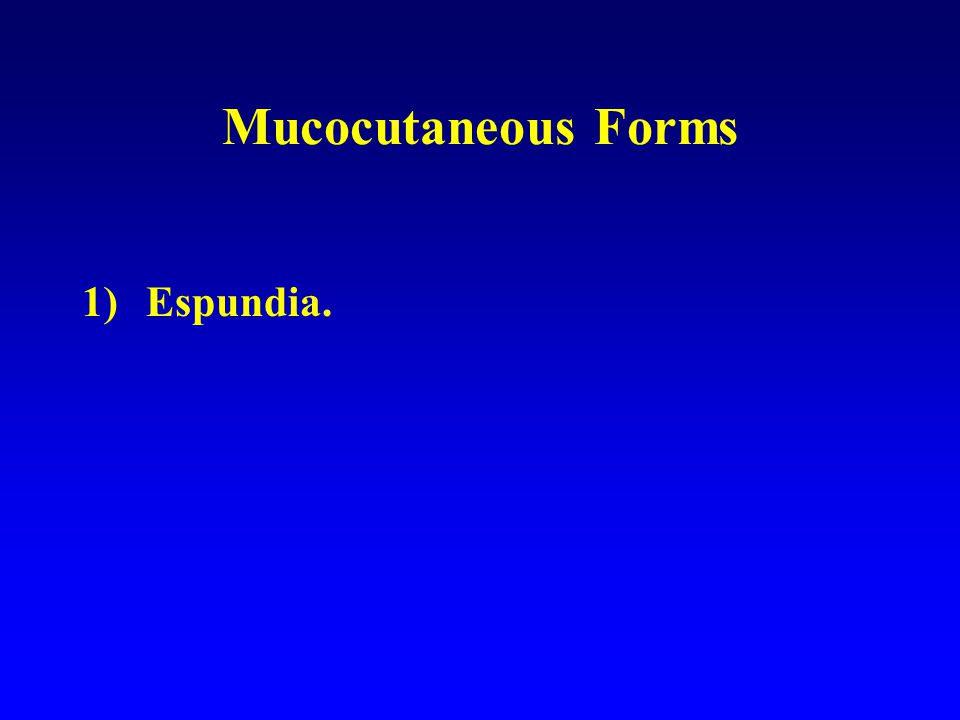 Mucocutaneous Forms Espundia.