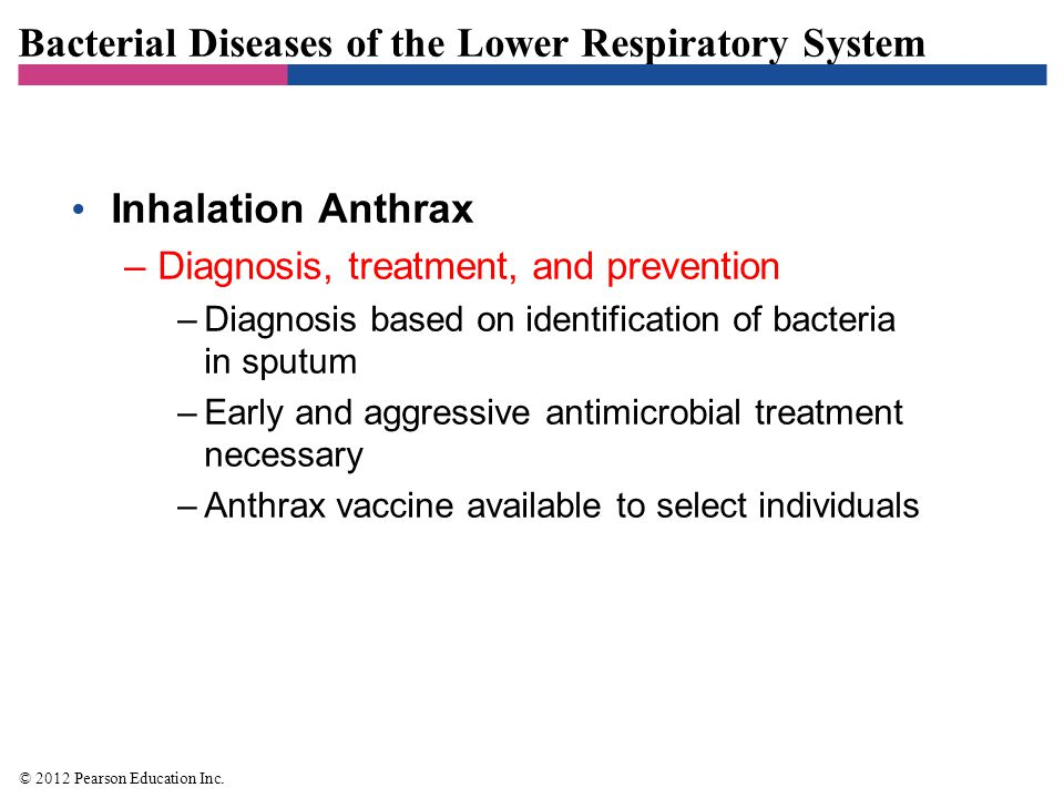 Bacterial Diseases of the Lower Respiratory System