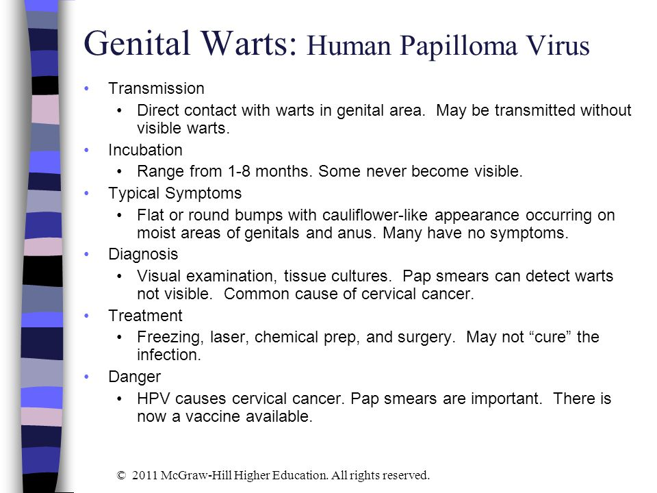 Can you get genital warts without sexual contact in Sydney