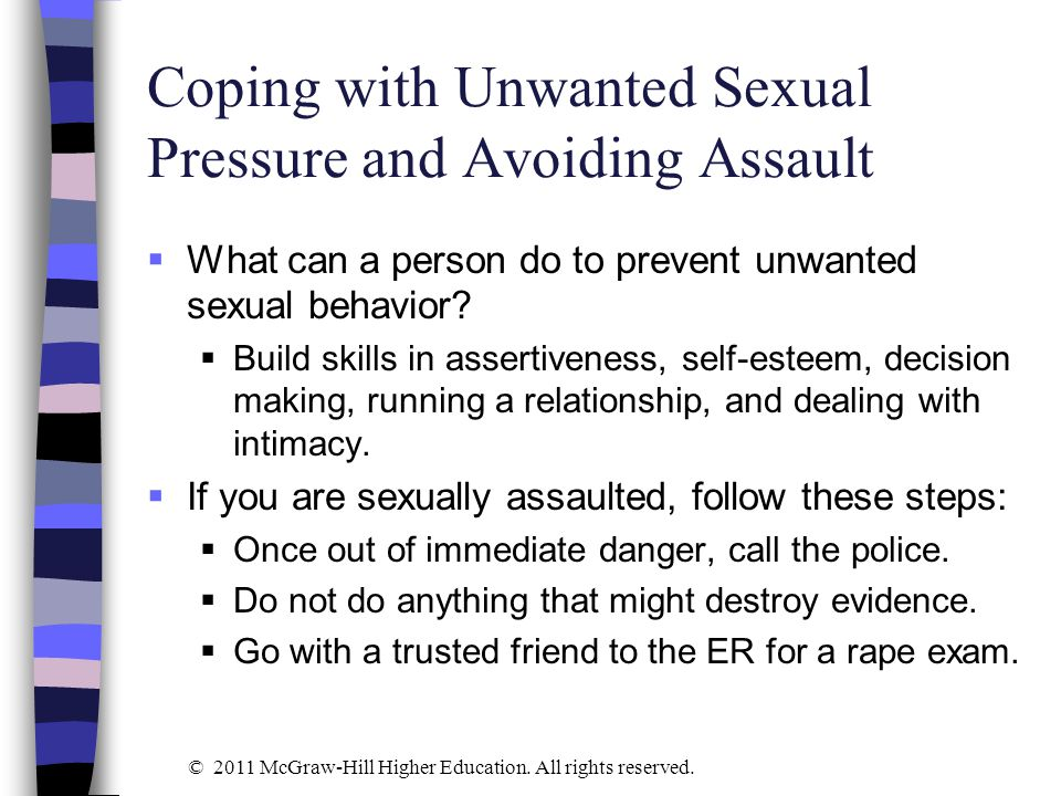 Coping with Unwanted Sexual Pressure and Avoiding Assault