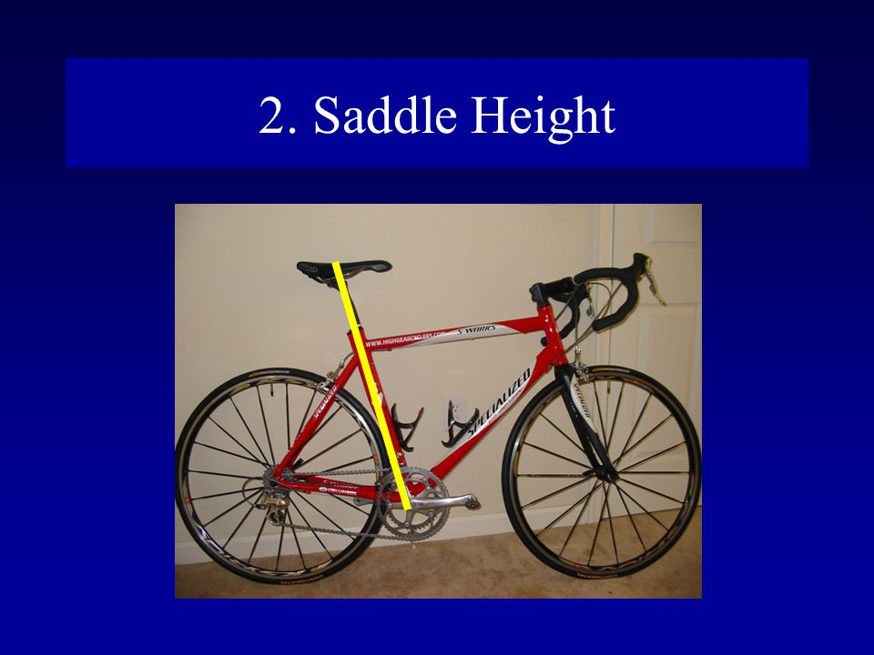 2. Saddle Height