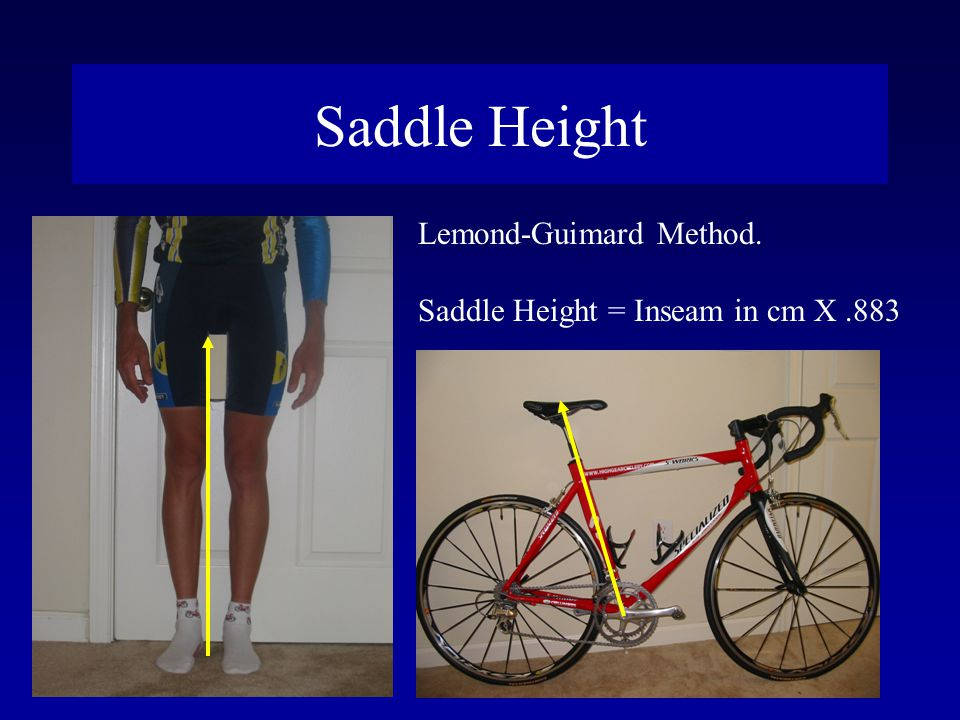 Saddle Height Lemond-Guimard Method.