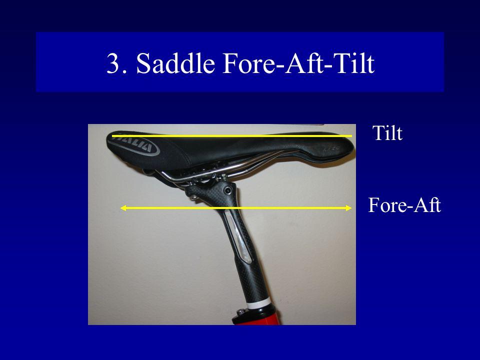 3. Saddle Fore-Aft-Tilt Tilt Fore-Aft