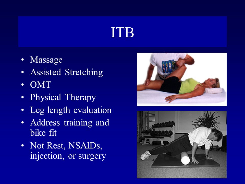 ITB Massage Assisted Stretching OMT Physical Therapy