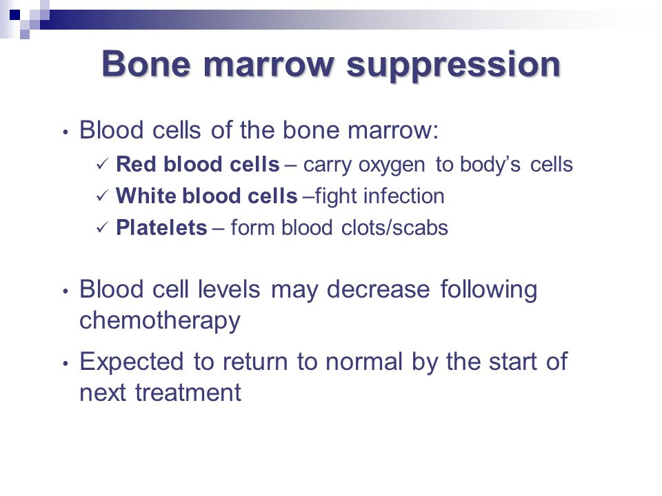 Bone marrow suppression