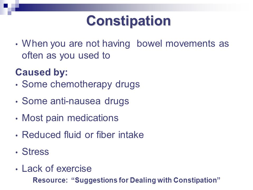 Resource: Suggestions for Dealing with Constipation